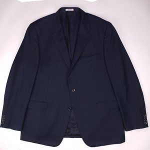 Hickey Freeman Blue Blazer 48L Lindsey Two Button